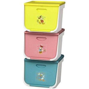 収納ボックス FLP-MK Disney 3個セットミッキー ミニー ドナルド ディズニー キッズ フタ付き オープンボックス 子供服 おもちゃ箱 おもちゃ収納 かわいい アイリスオーヤマ 新生活 新学期 新居