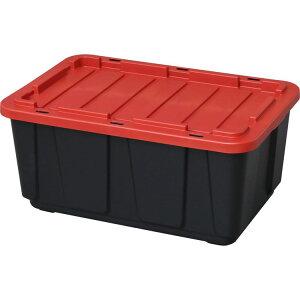 収納ボックス フタ付き 収納ケース タフボックス ブラック/レッド THB-98収納ケース プラスチック コンテナボックス スタッキングボックス 収納 大容量 積み重ね スタッキング 押入れ 工具
