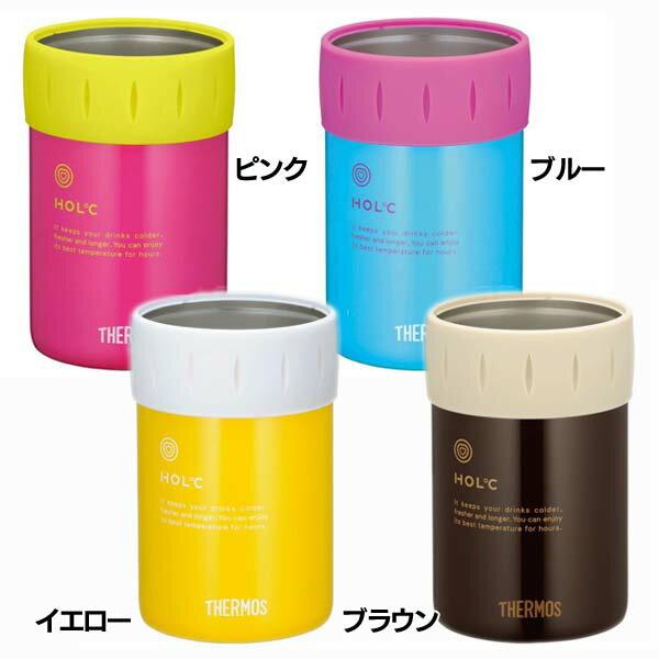サーモス 保冷缶ホルダー JCB-351 ピンク(P)・ブルー(BL)・イエロー(Y)・ブラウン(BW)【D】 送料無料
