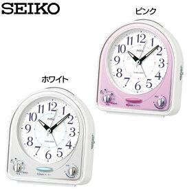 セイコー 目覚まし時計 NR435P・NR435W ピンク・ホワイト SEIKO【TC】【HD】【時計 ブランド 置時計 アラーム 新生活 卓上】 送料無料
