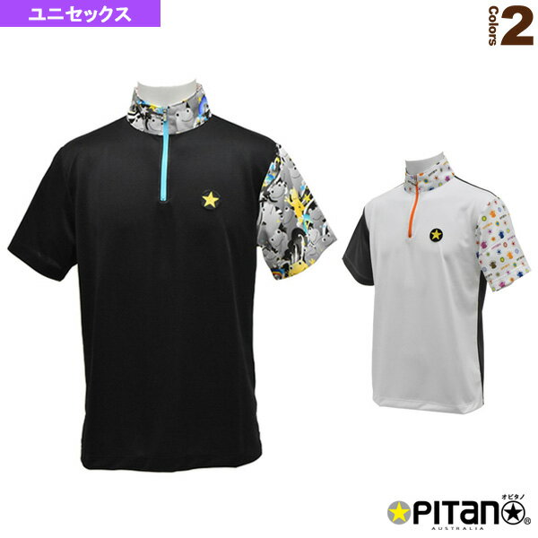 [オピタノ テニス・バドミントン ウェア(メンズ/ユニ)]UVカット&クール・ジップアップシャツCombi/ユニセックス(OPT-123)