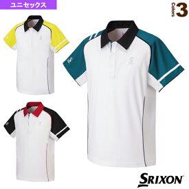 [スリクソン テニス・バドミントン ウェア(メンズ/ユニ)]ポロシャツ/ユニセックス(SDP-1646)テニスウェア男性用