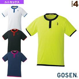[ゴーセン テニス・バドミントン ウェア(メンズ/ユニ)]ゲームシャツ/ユニセックス(T1618)バドミントンウェア男性用