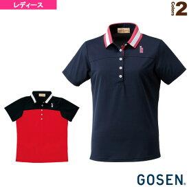 [ゴーセン テニス・バドミントン ウェア(レディース)]レディース ゲームシャツ(T1407)バドミントンウェア女性用