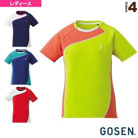 [ゴーセン テニス・バドミントン ウェア(レディース)]ゲームシャツ/レディース(T1709)バドミントンウェア女性用
