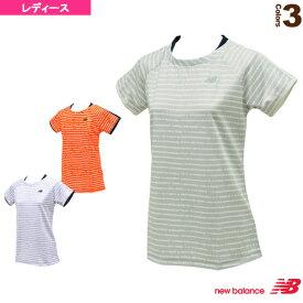 [ニューバランス テニス・バドミントン ウェア(レディース)]レイヤード風ゲームシャツ/レディース(JWTT7026)