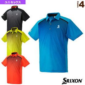 [スリクソン テニス・バドミントン ウェア(メンズ/ユニ)]ポロシャツ/ユニセックス(SDP-1702)テニスウェア男性用