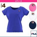 [フィラ テニス・バドミントン ウェア(レディース)]半袖ゲームシャツ/レディース(VL1633)