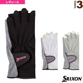 [スリクソン テニス アクセサリ・小物]テニスグローブ/ハーフタイプ/両手セット/手のひら側穴あきタイプ/レディース(SGG0710)手袋