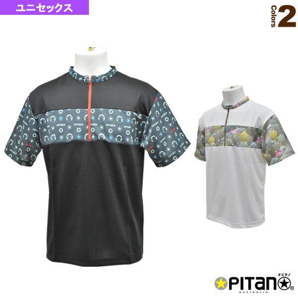 [オピタノ テニス・バドミントン ウェア(メンズ/ユニ)]UVカットアンドクール・ジップアップシャツLine/ユニセックス(OPT-125)