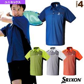 [スリクソン テニス・バドミントン ウェア(メンズ/ユニ)]ポロシャツ/ユニセックス(SDP-1743)テニスウェア男性用