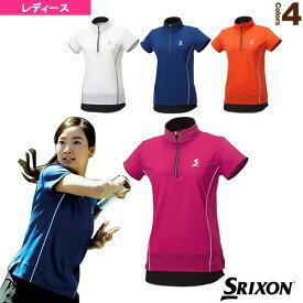 [スリクソン テニス・バドミントン ウェア(レディース)]ジップシャツ/レディース(SDP-1761W)テニスウェア女性用