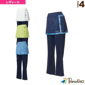 [paradizotenisu·羽球服裝(女子的)]從屬于2018年2月上旬球場的網絲褲子/女士(JCL11K)