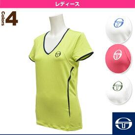 [セルジオタッキーニ テニス・バドミントン ウェア(レディース)]EVA T-SHIRT/エヴァ Tシャツ/レディース(36882)