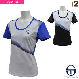 [セルジオタッキーニ テニス・バドミントン ウェア(レディース)]GRID-COAST T-SHIRT/グリッドコースト Tシャツ/レディース(37444)