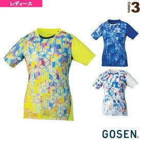 [ゴーセン テニス・バドミントン ウェア(レディース)]ゲームシャツ/レディース(T1813)