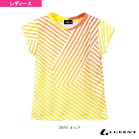 [ルーセント テニス・バドミントン ウェア(レディース)]ゲームシャツ/襟なし/レディース(XLH-229)