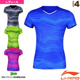 [リーニン テニス・バドミントン ウェア(レディース)]中国ナショナルチーム ゲームシャツ/レディース(AAYM058)
