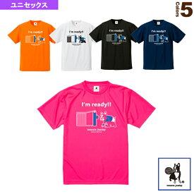 [テニスジャンキー テニス・バドミントン ウェア(メンズ/ユニ)]Tennis Junky/ボールまっしぐらモード first/ドライTシャツ/ユニセックス(TJ18013)