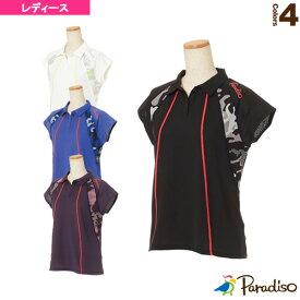 [パラディーゾ テニス・バドミントン ウェア(レディース)]半袖ゲームシャツ/レディース(KCL62A)