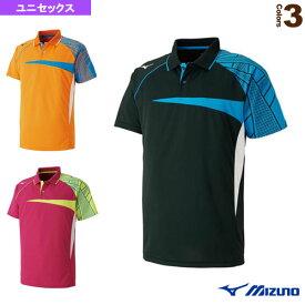 [ミズノ テニス・バドミントン ウェア(メンズ/ユニ)]ゲームシャツ/ユニセックス(62JA8507)バドミントンウェア男性用