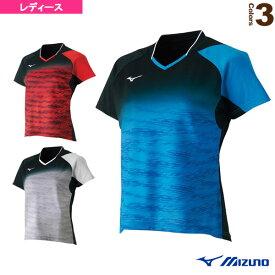 [ミズノ テニス・バドミントン ウェア(レディース)]ゲームシャツ/レディース(62JA8708)