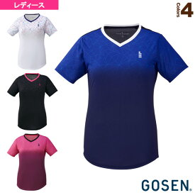 [ゴーセン テニス・バドミントン ウェア(レディース)]ゲームシャツ/レディース(T1903)