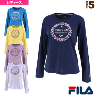 [Fila tennis badminton wear (Lady's)] Longus Reeve graphic T-shirt / Lady's (VL1918)