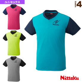 [ニッタク 卓球 ウェア(メンズ/ユニ)]VネックTシャツ-4/ユニセックス(NX-2090)