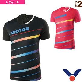 [ヴィクター テニス・バドミントン ウェア(レディース)]Tシャツ/レディース(T-91032)