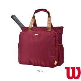 [ウィルソン テニス バッグ]W BEAR TOTE 11POCKETS/ウィルソンベア トート 11ポケット/ラケット2本収納可/マルーン(WR8001807001)