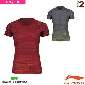 [リーニン テニス・バドミントン ウェア(レディース)]中国ナショナルチームゲームシャツ/レディース(AAYN094)