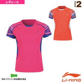 [リーニン テニス・バドミントン ウェア(レディース)]中国ナショナルチームゲームシャツ/レディース(AAYN102)