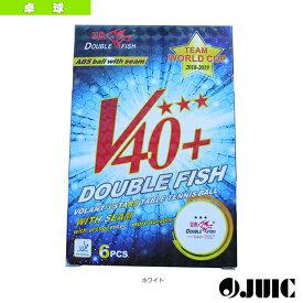 [ジュウイック 卓球 ボール]ABS 3スター Double Fish V40+/6球入(7055)