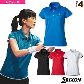 [スリクソン テニス・バドミントン ウェア(レディース)]ポロシャツ/クラブライン/レディース(SDP-1967W)