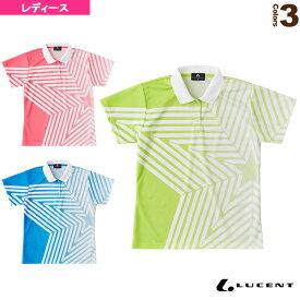 [ルーセント テニス・バドミントン ウェア(レディース)]ゲームシャツ/レディース(XLP-498)