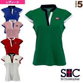 [セントクリストファー テニス・バドミントン ウェア(レディース)]スタンドカラーゲームシャツ/レディース(STC-BKW2191)