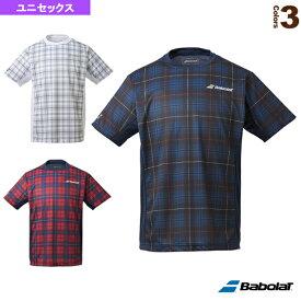 [バボラ テニス・バドミントン ウェア(メンズ/ユニ)]ショートスリーブシャツ/カラープレイライン/ユニセックス(BTUQJA06)