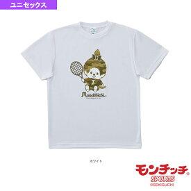 [モンチッチスポーツ テニス・バドミントン ウェア(メンズ/ユニ)]モンチッチ テニスTシャツ/迷彩モンチッチちゃん/ユニセックス(M0011)
