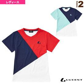 [ルーセント テニス・バドミントン ウェア(レディース)]ゲームシャツ/襟なし/レディース(XLH-247)