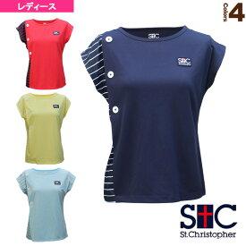 [セントクリストファー テニス・バドミントン ウェア(レディース)]マリンボタンゲームシャツ/レディース(STC-BAW2223)