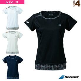 [バボラ テニス・バドミントン ウェア(レディース)]PURE SHORT SLEEVE SHIRT/半袖ゲームシャツ/レディース(BWG1378)