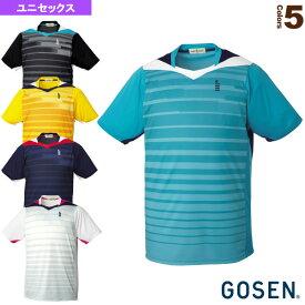 [ゴーセン テニス・バドミントン ウェア(メンズ/ユニ)]ゲームシャツ/ユニセックス(T1512)バドミントンウェア男性用