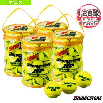 "Bridgestone /BRIDGESTONE tennis tennis ball NP (NP) ""into 30 balls x 4 bags (10 dozen)"""