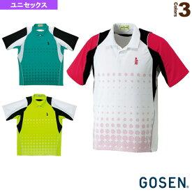[ゴーセン テニス・バドミントン ウェア(メンズ/ユニ)]ゲームシャツ/ユニセックス(T1412)バドミントンウェア男性用