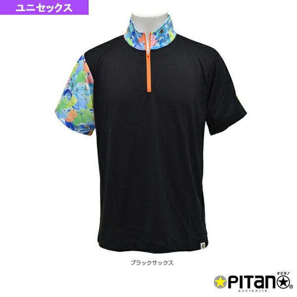 [オピタノ テニス・バドミントン ウェア(メンズ/ユニ)]UVカット&クール・ジップシャツmuji/ユニセックス(OPT-112)