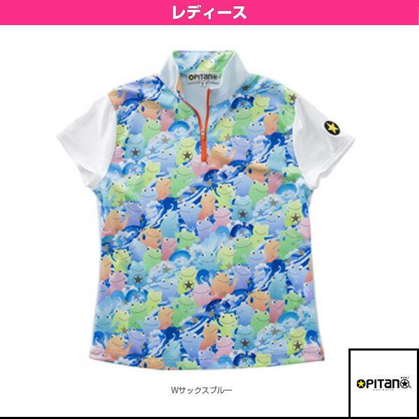 [オピタノ テニス・バドミントン ウェア(レディース)]UVカット&クール・ジップシャツ/レディース(OPT-511)