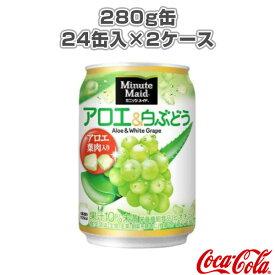 [コカ・コーラ オールスポーツ サプリメント・ドリンク]【送料込み価格】ミニッツメイド アロエ&白ぶどう 280g缶/24缶入×2ケース(43031)