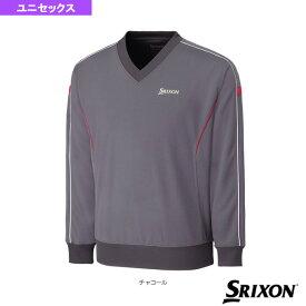 [スリクソン テニス・バドミントン ウェア(メンズ/ユニ)]Vネックプルオーバー/ユニセックス(SDN-3510)テニスウェア男性用