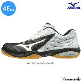 ミズノ バドミントンシューズ ウェーブクロー ワイド(71GA191301)4E相当の方向け 室内 体育館 靴 軽量 速さでゲームを支配する。軽量性と加速性のスピードモデル。ワイドフィットタイプ MIZUNO badminton shoes